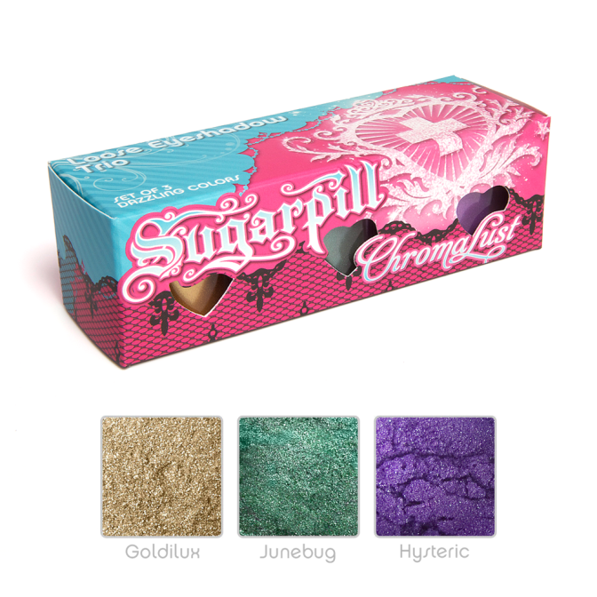 Sugarpill cosmetics review: Loose shadow trio + Lumi
